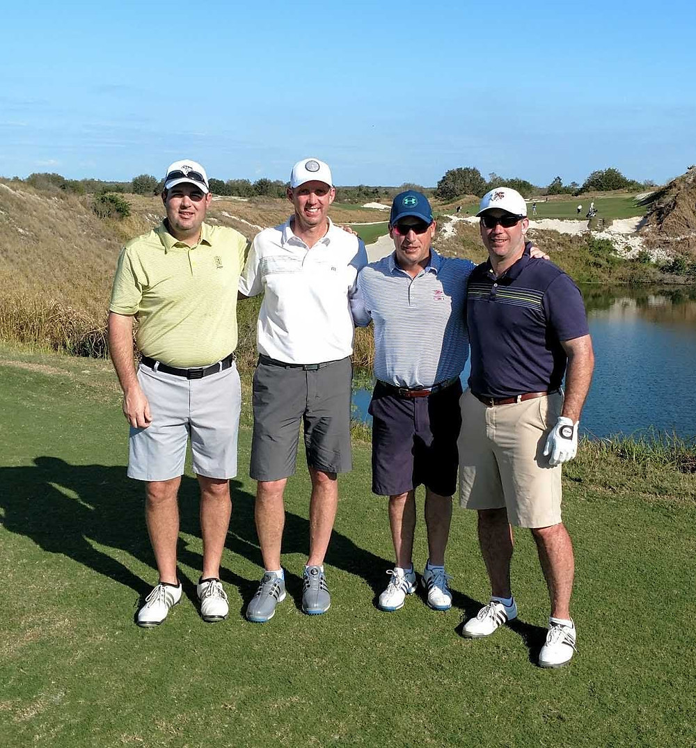 Mr. Geise playing golf with friends, including former Chapter President Pete Mazza