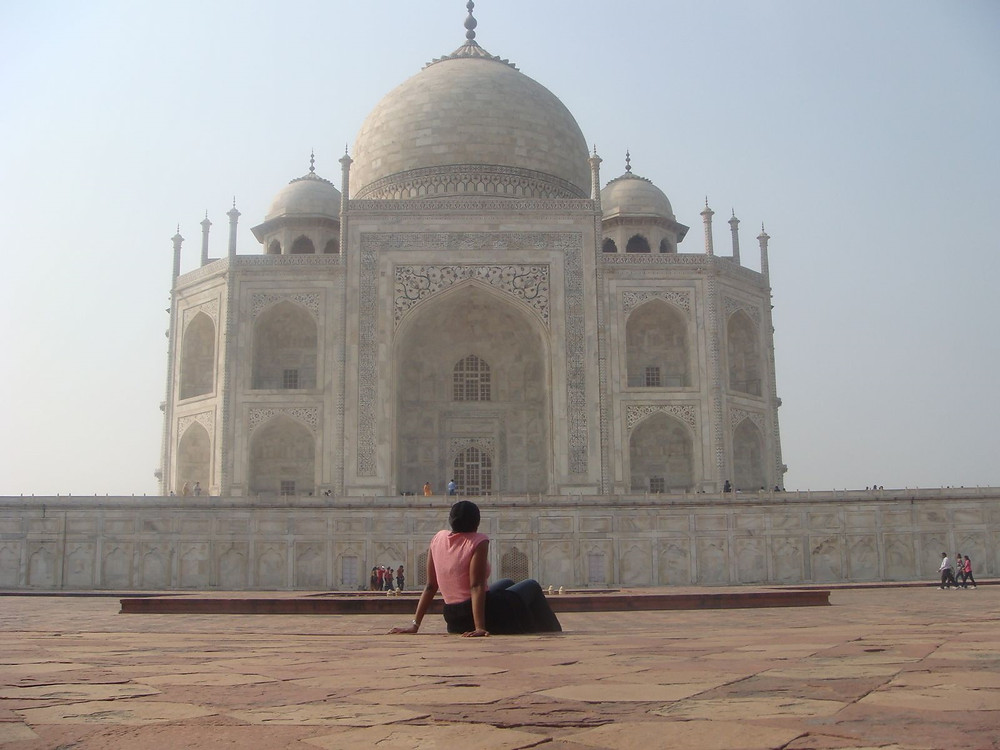 Ms. Staley-Ngomo at the Taj Mahal