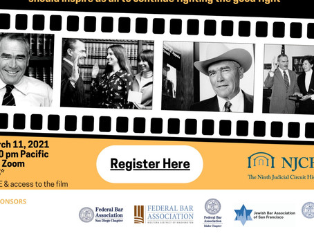 9th Circuit Cowboy:  Presentation on Film Celebrating the Life of Judge Harry Pregerson
