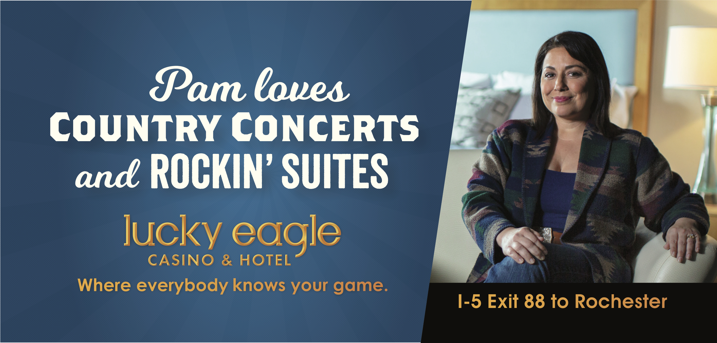 Lucky Eagle: Pam Billboard