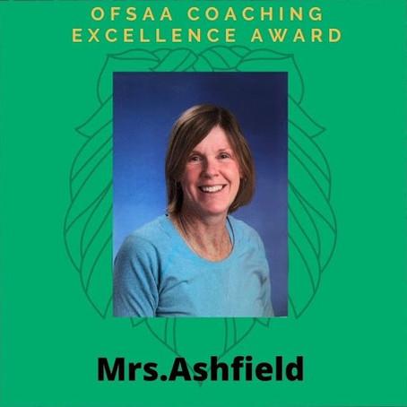 Mrs. Ashfield Receives Prestigious OFSAA Award Upon Retirement
