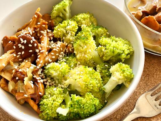 Grybai su brokoliais (keto)