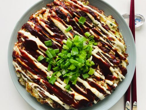 Okonomiyaki - kopūstų blynas (keto)