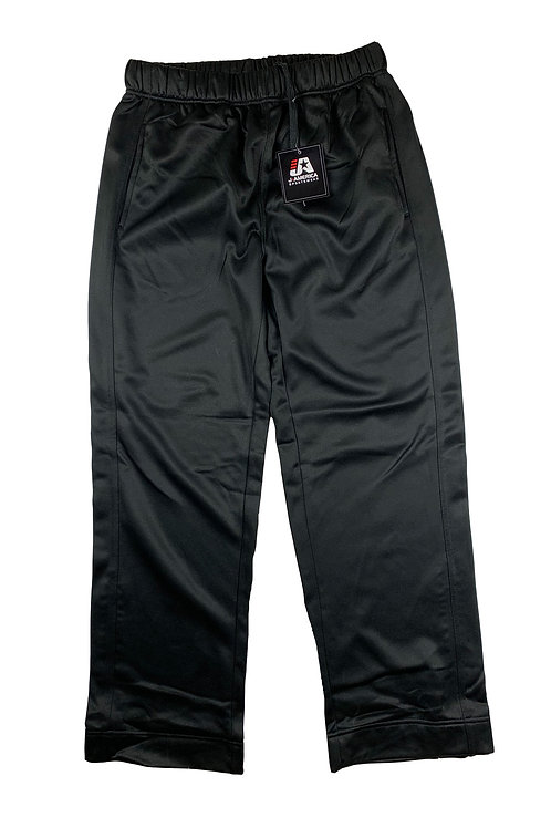 Mens Black Polyester Pants