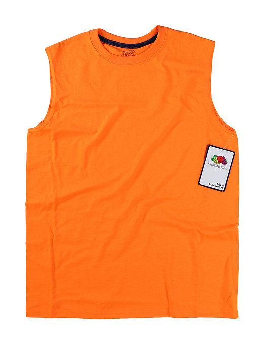 Boys Muscle Shirt - S. Orange