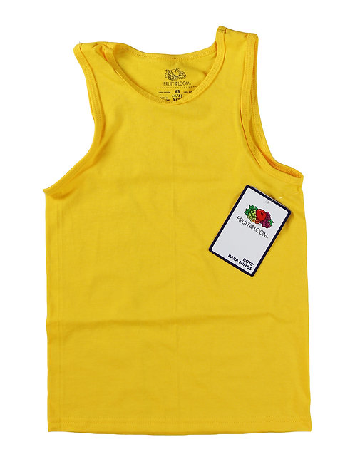 Boys Tank Tops - Yellow Gold