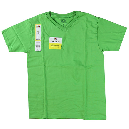 Boys V-Neck Tee - Cyle Lime