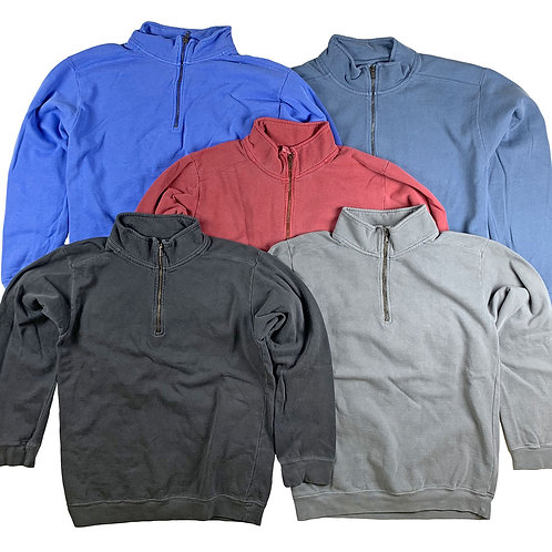 Mens 1/4 Zip Sweatshirts Mix Color