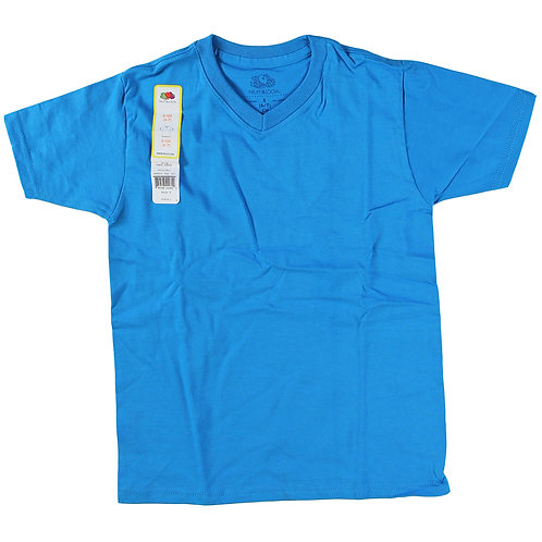 Boys V-Neck Tee - Pacific Blue