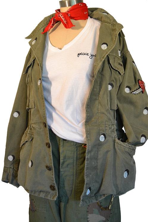 Hand Painted Polka Dot M51 Jacket