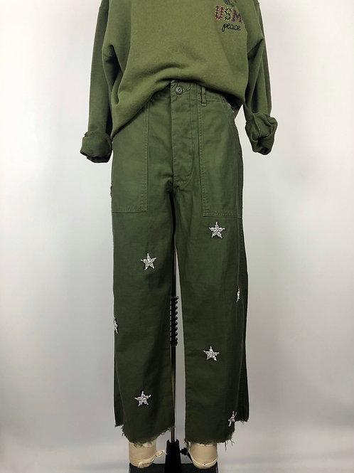 Embellished Star Utility Pants