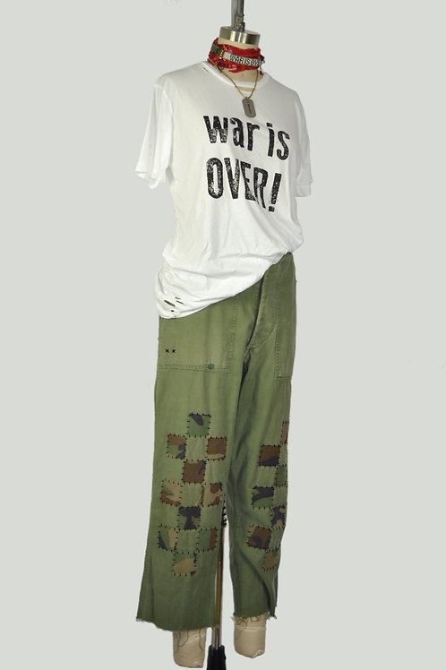 Checkerboard Patchwork Utility Pants