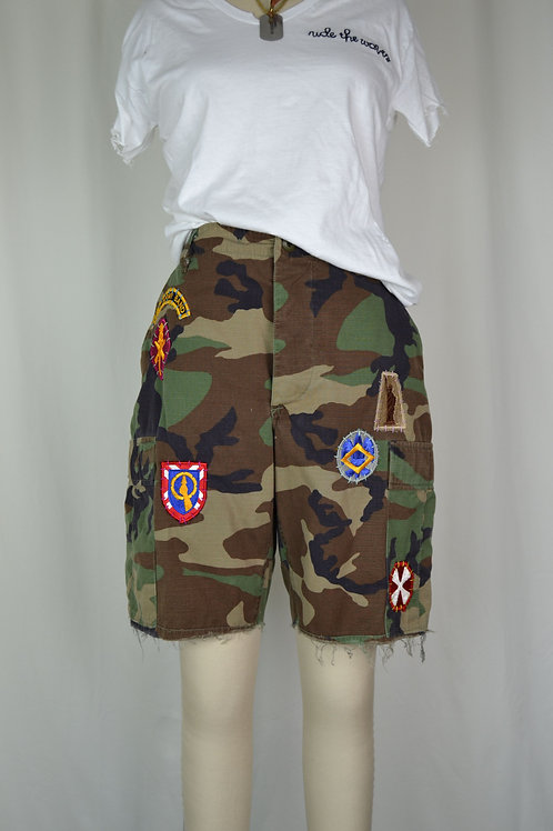 All Patched Up Utility Shorts