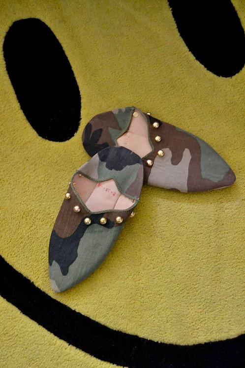 Studded Babouche Slippers