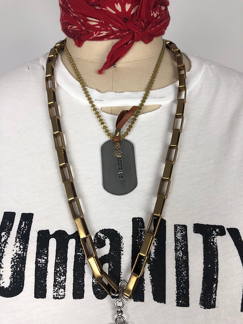 Shine On Dog Tag Necklace