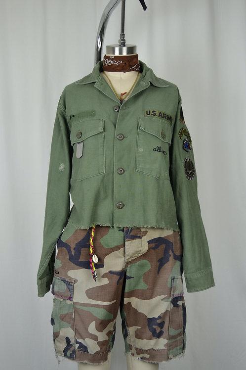 Cropped Long Sleeve Utility Shirt