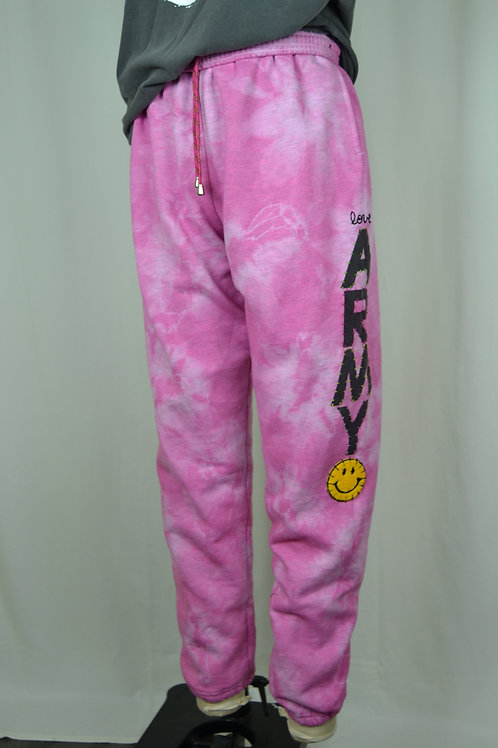 Pink Tie Dye Army Sweats