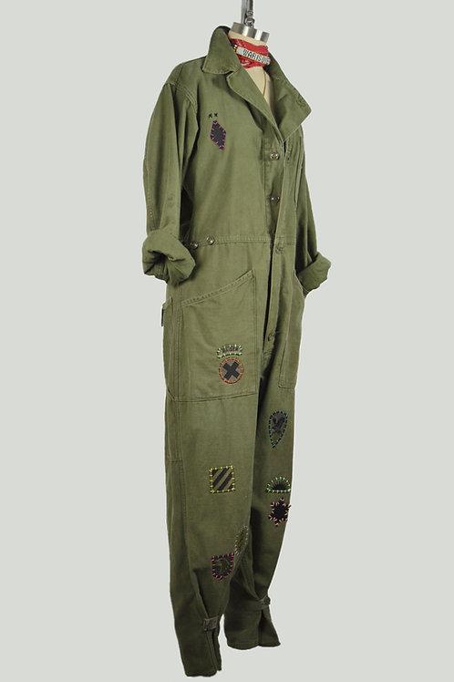 Patched up jumpsuit