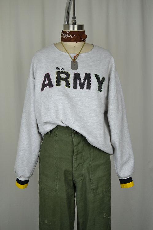 Varsity Army Sweatshirt