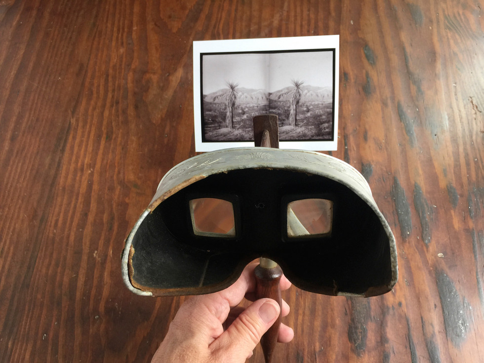 I love a 100 year old stereoscope - I printed out some images made with the Loreo and oohed and ahhhed like a kid seeing the two frames match up to create a 3D effect!
