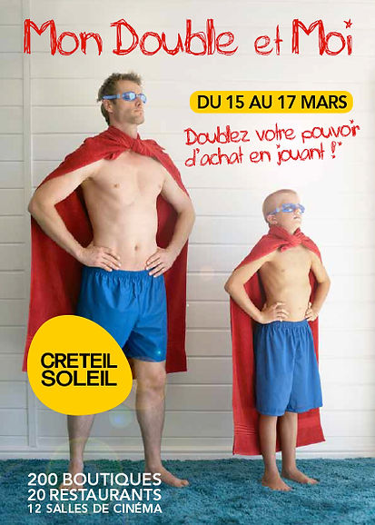 Créteil Soleil. Flyer by Estelle Kalifa graphiste freelance.