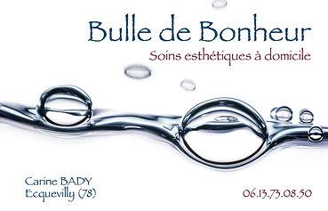 Bulle de bonheur. Logo et carte by Estelle Kalifa.