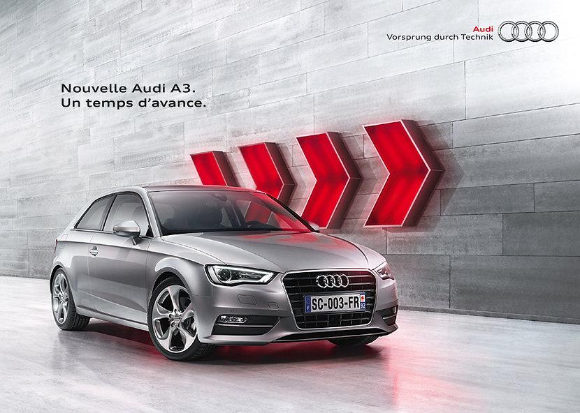 Audi. Plaquette by Estelle Kalifa graphiste freelance.