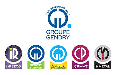 Groupe Gendry. Logos by Estelle Kalifa graphiste freelance.