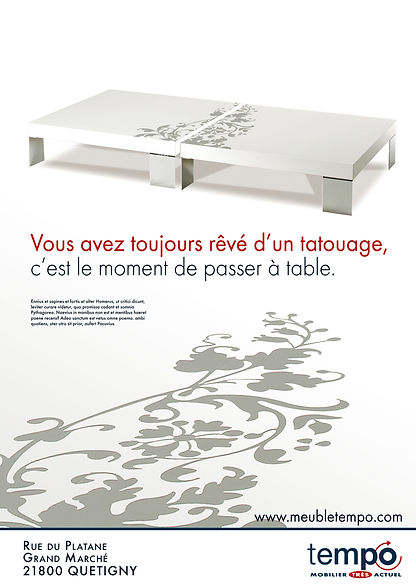 Tempo. Annonce presse by Estelle Kalifa.
