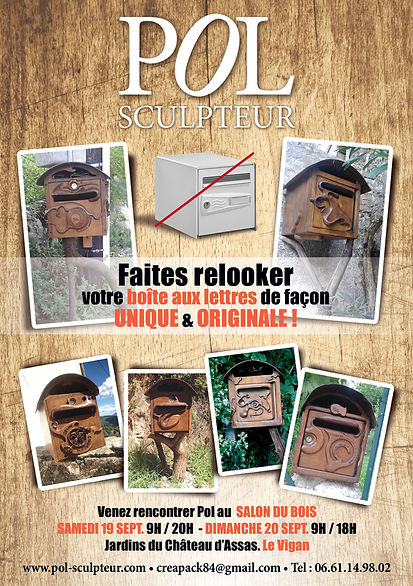Pol Sculpteur. Flyer by Estelle Kalifa graphiste freelance.