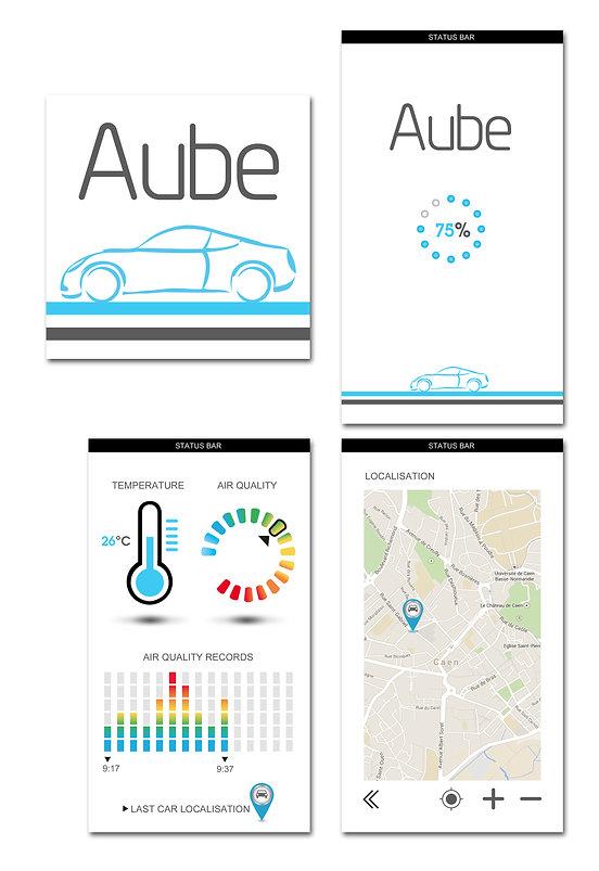 Aykow. Application mobile Aube by Estelle Kalifa.