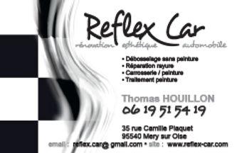 Reflex Car. Logo et carte by Estelle Kalifa.