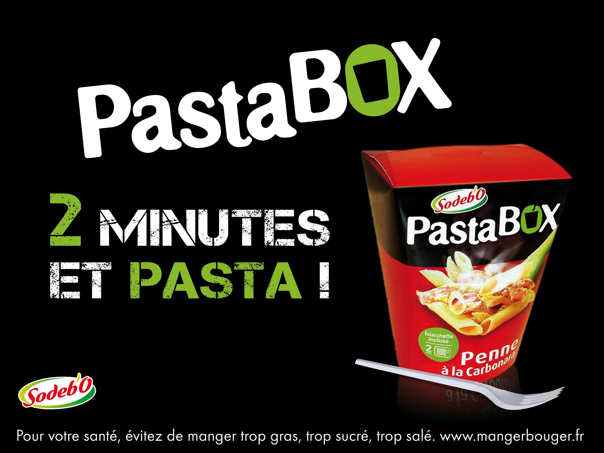 Sodebo. Pasta Box.