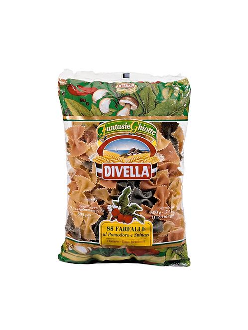 Farfalle pasta tomato and spinach divella