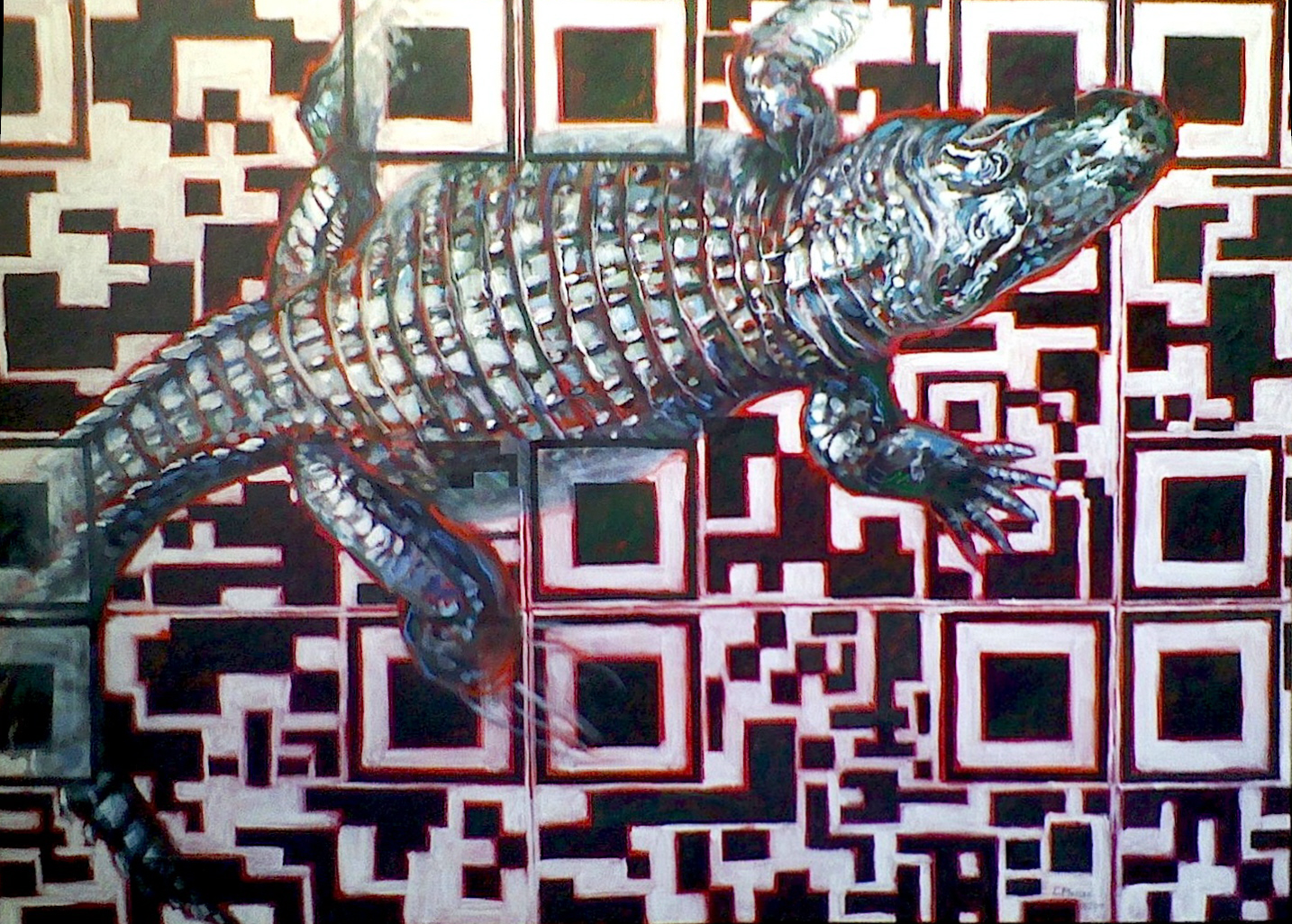Nature/QR Code VIII (Alligator)
