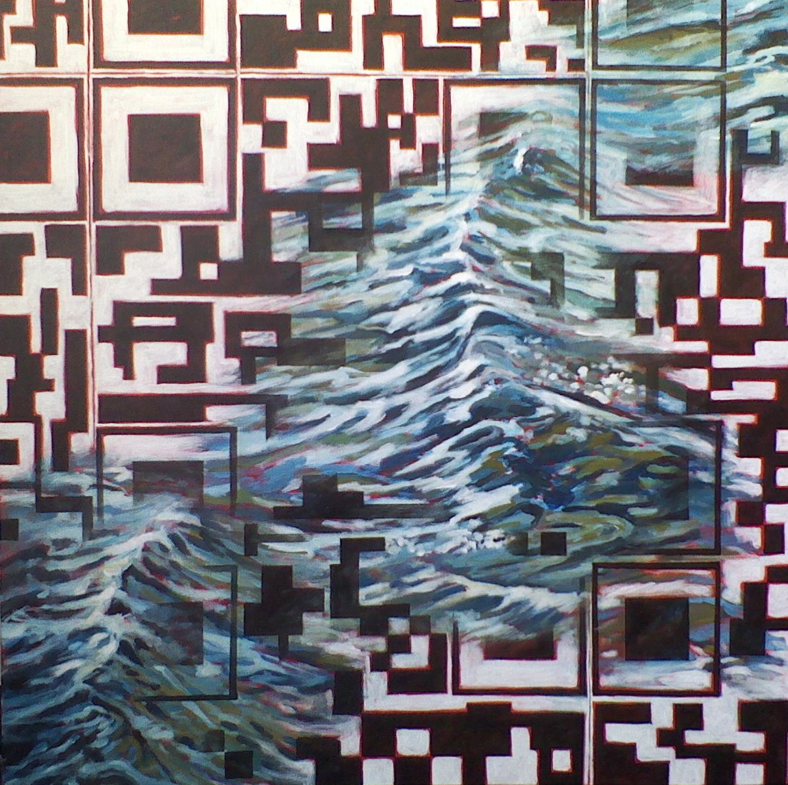 Nature QR Code X (Water)