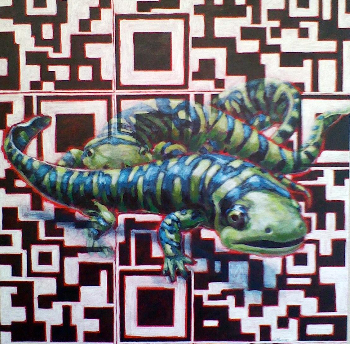 Nature/QR Code XI (Salamanders)