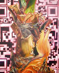 Nature/QR Code I (Palm Bark)