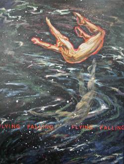 "(Flying/Falling) 36"" x 48"", Acrylic"
