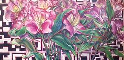 Nature/QR Code VI (Tropical Flowers)
