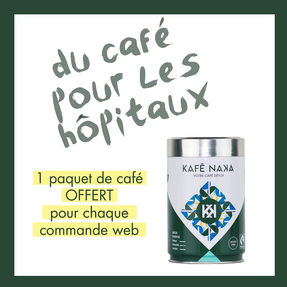 Kafé Naka offre du café aux hôpitaux
