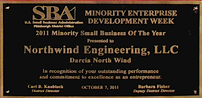 2011 SBA Minority Small Business of the