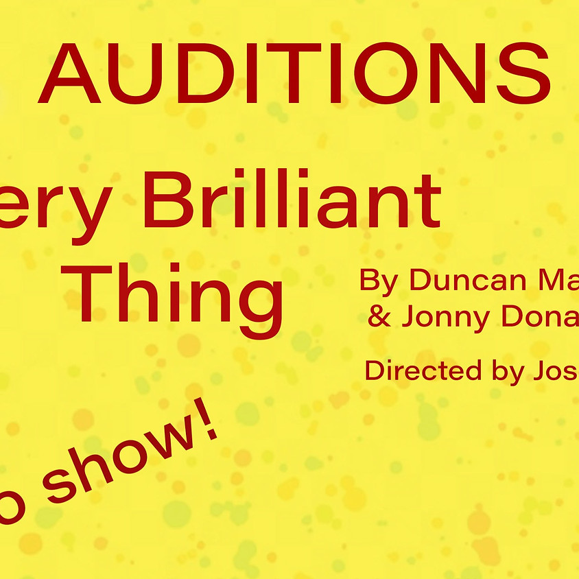 Every Brilliant Thing Auditions