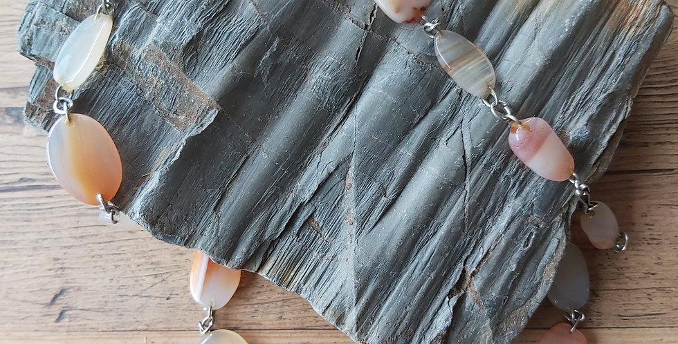 Scottish polished banded agate beads