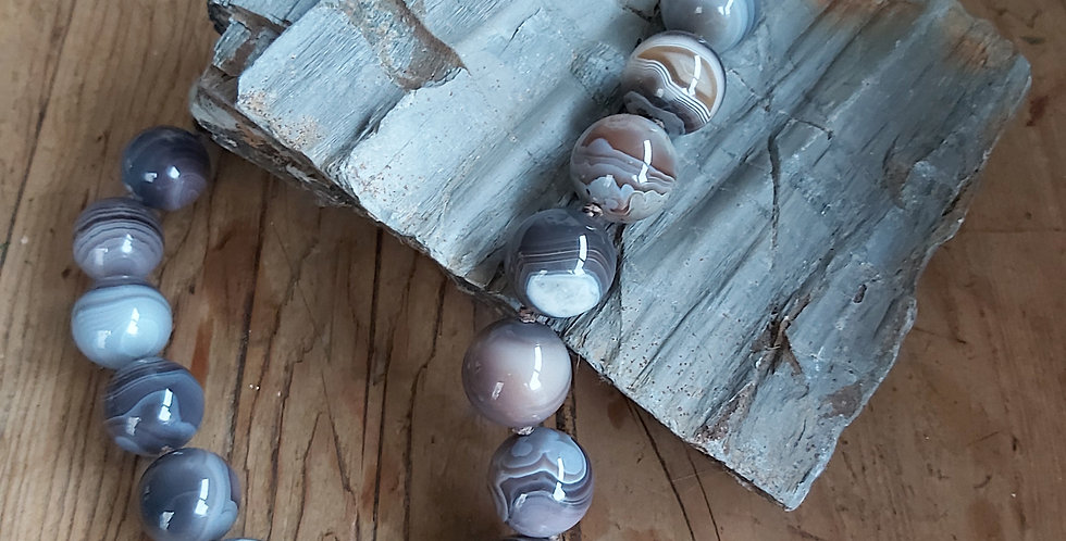 Striped agate 'bullseye' beads