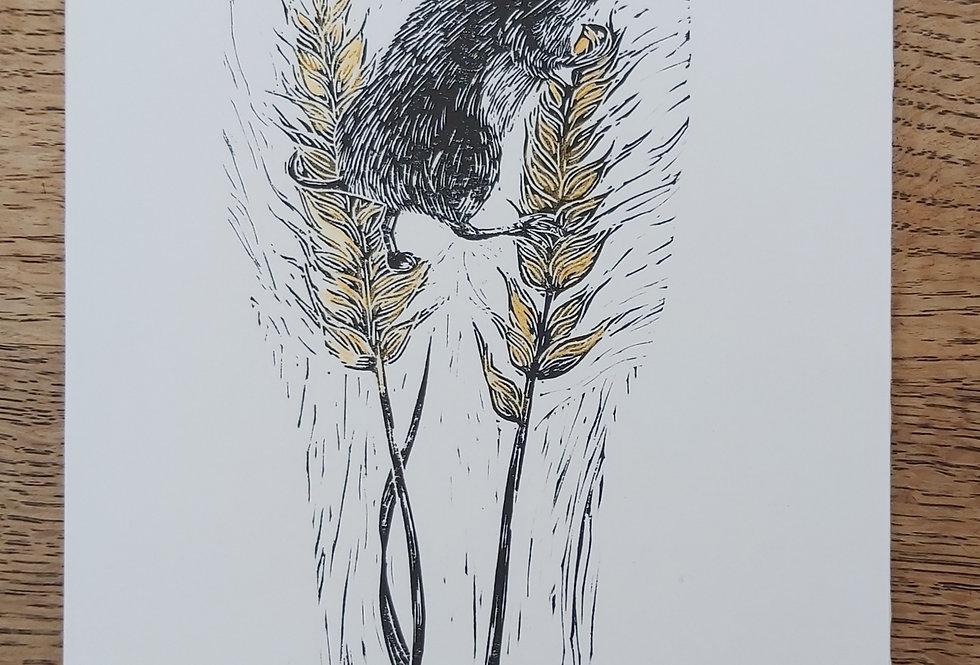Harvest - original linoprint
