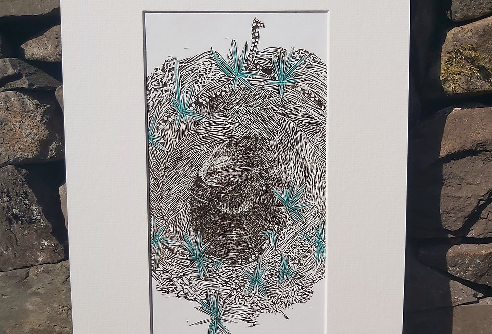 'The Long Sleep' - limited edition handprinted linocut