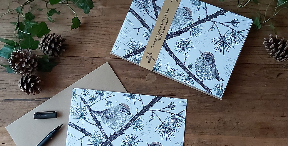Bladnoch Goldcrests - Festive Card Pack