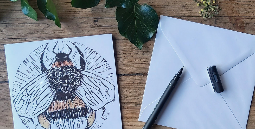 Bombus - blank greetings card