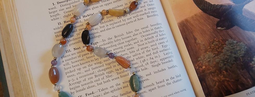 Vintage polished agate beads